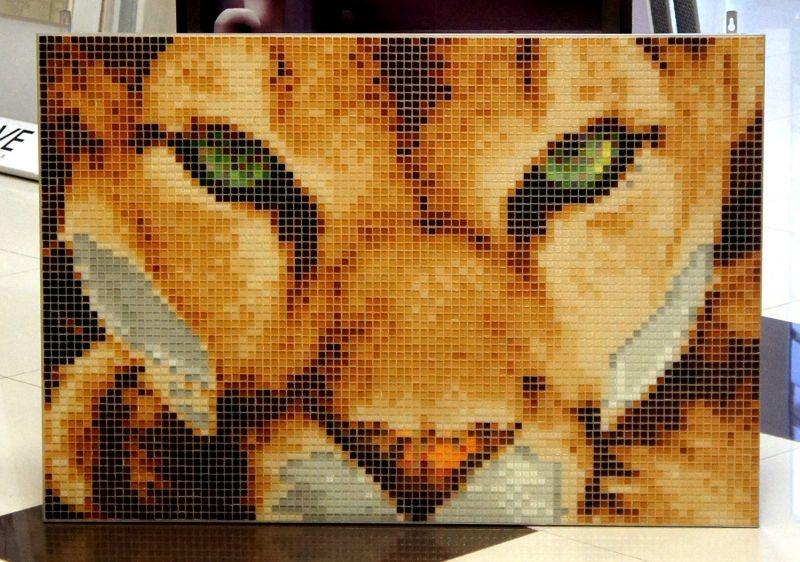 Панно из стеклянной мозаики